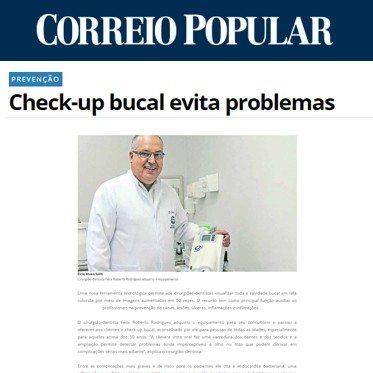 Correio Popular - Dr Felix - Checkup Bucal
